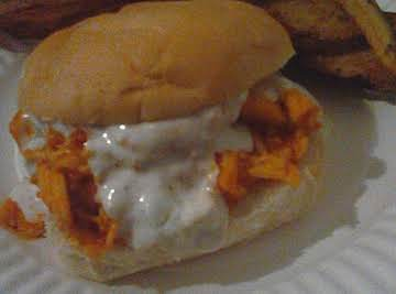 Pulled Buffalo Chicken Sandwiches