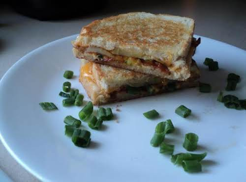 "Loaded Fried Potato Grilled Cheese Sandwich ""Anyone that knows me knows that..."