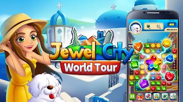 Jewel City : World Tour Match 3 Puzzle