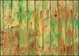 Photo: Green Rusty Door