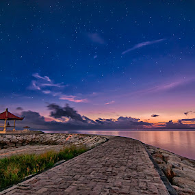 sunrise with the star by Aldhy Eka Putra - Landscapes Sunsets & Sunrises