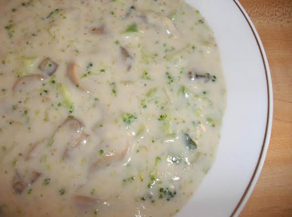 Cream Of Broccoli And Mushroom Soup Recipe