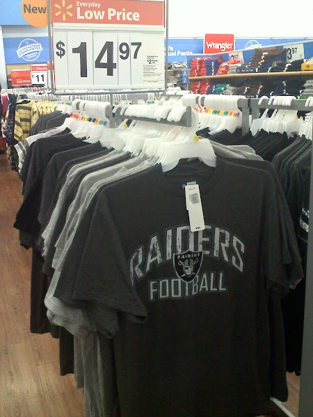 Photo: My husband and sons love the Raiders, maybe for my sons birthday next month he will get a new shirt.