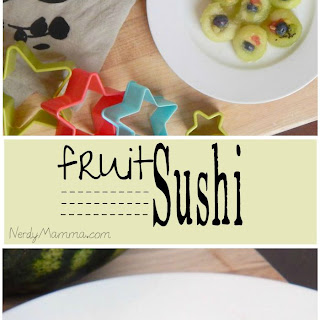 Fruit Sushi {making lunch fun for kids series}.