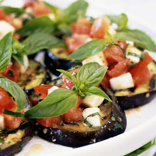 Spanish Grilled Eggplant with Tomato Vinaigrette.