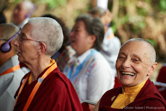 Photo: Let's cultivate Happiness! Photo courtesy of Olivier Adam / 14th Sakyadhita International   Association of Buddhist Women conference — avec Jetsunma   Tenzin Palmo (official).