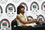 Former SAA Chairperson Cheryl Carolus at the state capture inquiry where she is giving testimony.