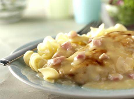This Dish Was Made With Noodle And Just Threw The Ham In The Soup.  My Recipe Is A Little More Upgraded And Better Tasting.