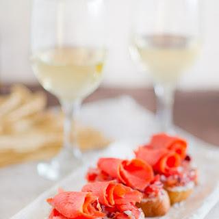 Smoked Salmon Crostini and Wine Pairing