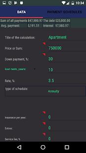Loan calculator - náhled