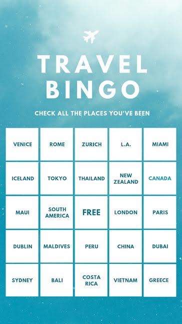 Travel Bingo - Facebook Story Template