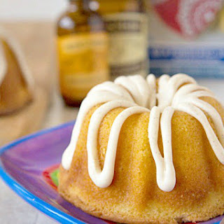 Mini Creamsicle Bundt Cake with Vanilla Bean Glaze Recipe