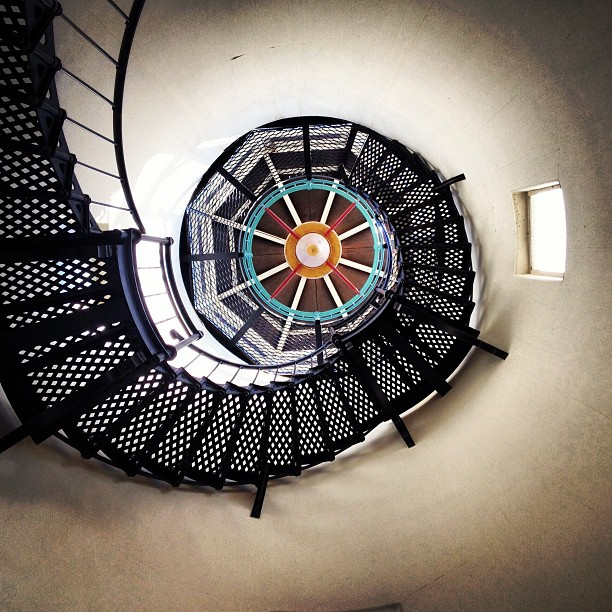 Light me up! by Brandon Chapman - Abstract Patterns ( stairs, patterns, santa barbara, swirly, lighthouse, rusty's pizza, iron )