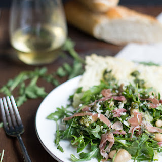 Arugula, White Bean & Prosciutto Salad with Basil Pesto