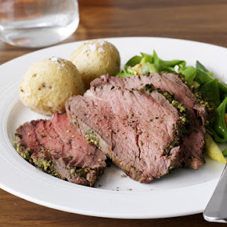 Beef Tenderloin with Mustard and Herb Crust