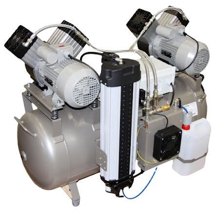 Kompressor oljefri för medicinsk luft, EKOM DK 50 x2 komp.