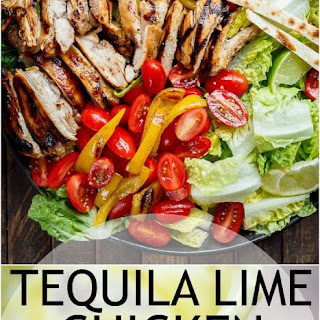 Grilled Tequila Lime Chicken Taco Salad.