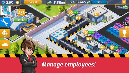Idle Car Factory Mod Apk 14.1.2 (Free Shopping) 4