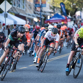 Racing In The Pack by Garry Dosa - Sports & Fitness Cycling ( racing, outdoors, tour de white rock, men, action, competitive, cycling, bicycles, people, sport, male )