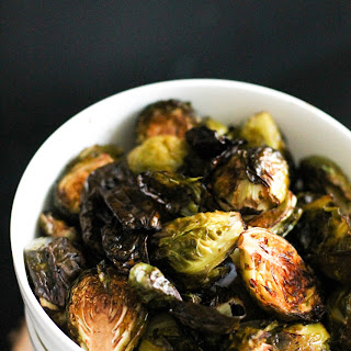 Crispy Balsamic Roasted Brussels Sprouts.