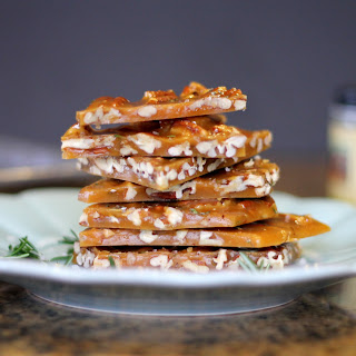 Salted Rosemary Pecan Brittle.