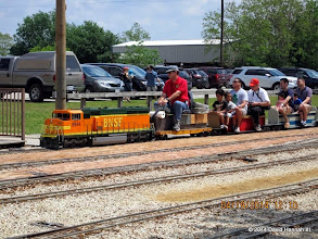 Photo: Engineer Brian Campopiano with BNSF 9944     HALS Public Run Day 2014-0419 DH3