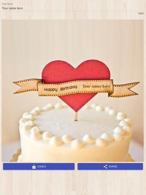 Cake Name Writer - screenshot