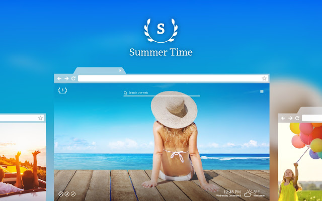 Summer Time HD Wallpaper New Tab Theme