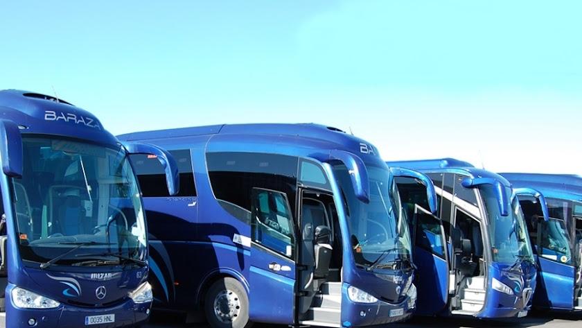 Imagen de archivo de vehículos de la empresa Baraza.