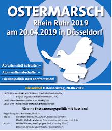 Ostermarschflyer, Titelseite.