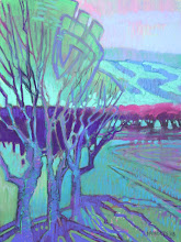 Photo: Orchard Improv, pastel by Nancy Roberts, copyright 2014. Private collection.