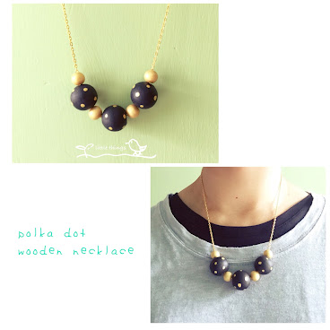 polka dot wooden necklace