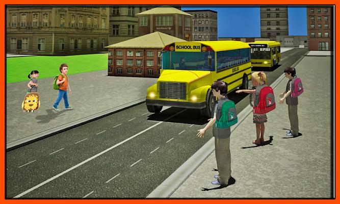 Schoolbus Driver City Drive - screenshot