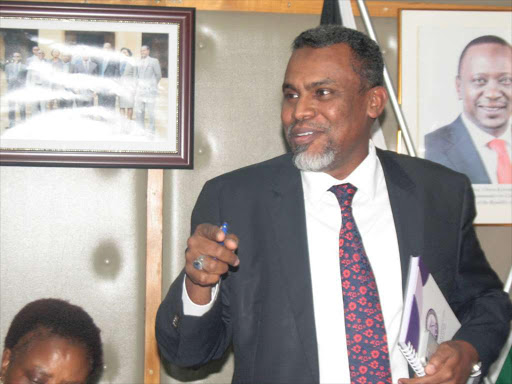 DPP Noordin Haji at the EACC offices on April 18, 2018/JOSEPH NDUNDA