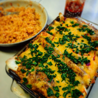 Mexi-Kenny Chicken Enchiladas
