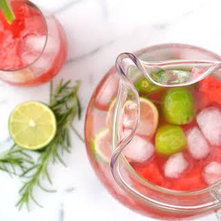 Rosemary Watermelon Agua Fresca.