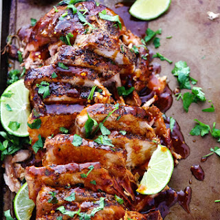 Slow Cooker Honey Lime Ginger Pork.