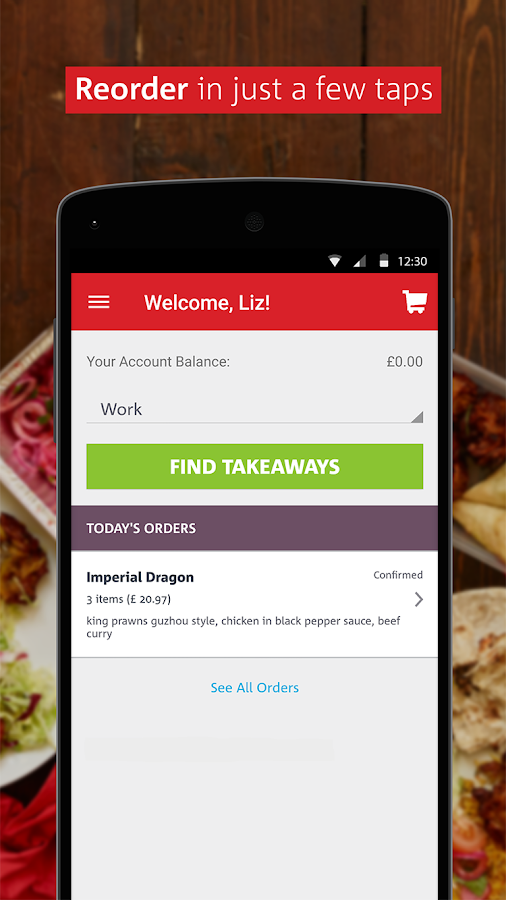 hungryhouse Takeaway Online- screenshot
