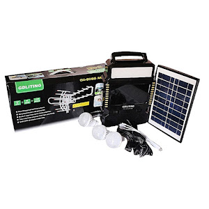 Kit solar GD8086 Antena TV Radio FM USB MP3 si 3 becuri