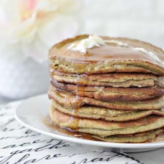 Low Carb Keto Banana Nut Protein Pancakes.