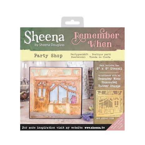 Sheena Douglass Remember When 8X8 Stencil - Party Shop UTGÅENDE