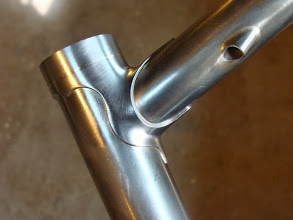 Photo: Finished top tube lug with a 10mm extension.