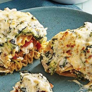 Creamy Chicken & Spinach Lasagna Rolls