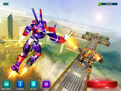 Flying Superhero Robot Monster Transform Fighting- screenshot thumbnail