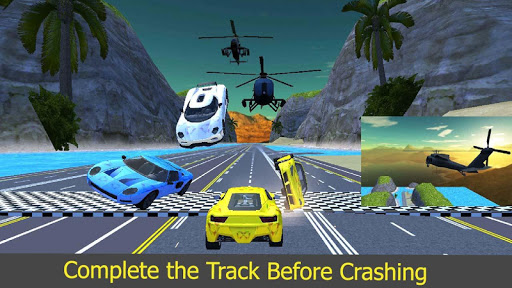 Driving Car vs Free Falling Car Racing Stunts screenshot 3
