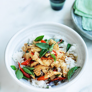 Chicken Stir-fried With Holy Basil And Chilli.