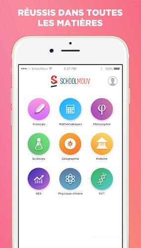SchoolMouv - Tous tes cours collège et lycée 🚀 Android App Screenshot