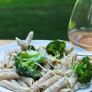 Lightened Creamy Penne with Broccoli