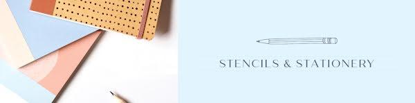 Stencils & Stationary - Etsy Shop Big Banner Template