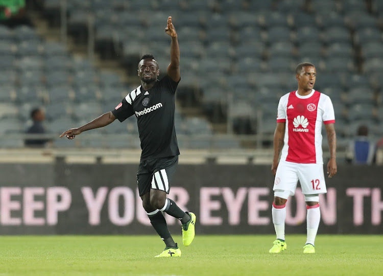 Bernard Morrison of Pirates celebrates goal during the 2017/18 Absa Premiership football match between Orlando Pirates and Ajax Cape Town at Orlando Stadium, Johannesburg on 12 September 2017.